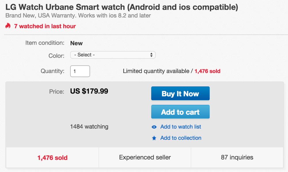 LG Watch Urbane Smart Watch-sale-02