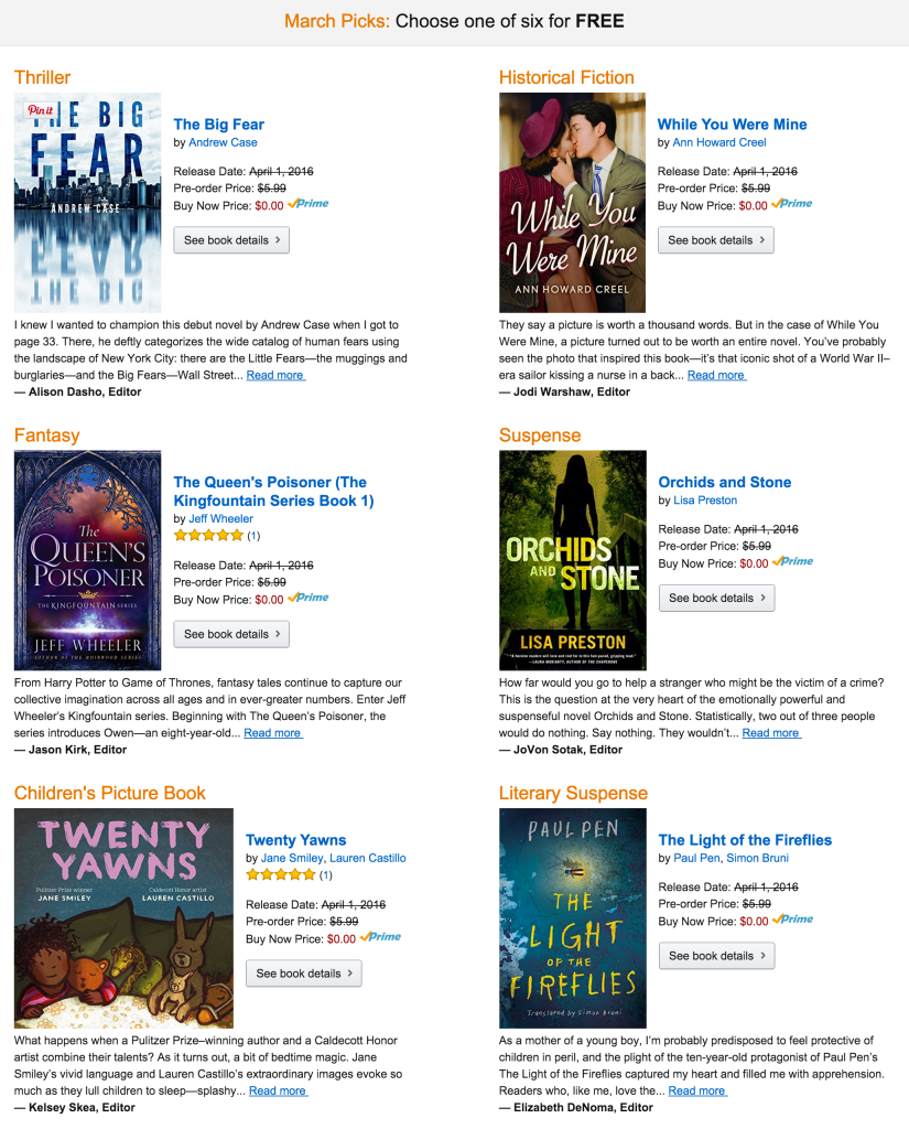 march-kindle-first-books
