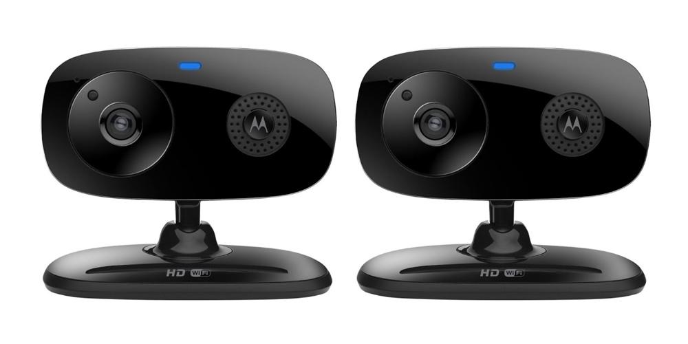 Motorola FOCUS66-2 B Wi-Fi HD Home Monitor Camera - 2 Pack (Black)