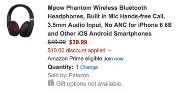 Mpow Phantom Wireless Bluetooth Headphones
