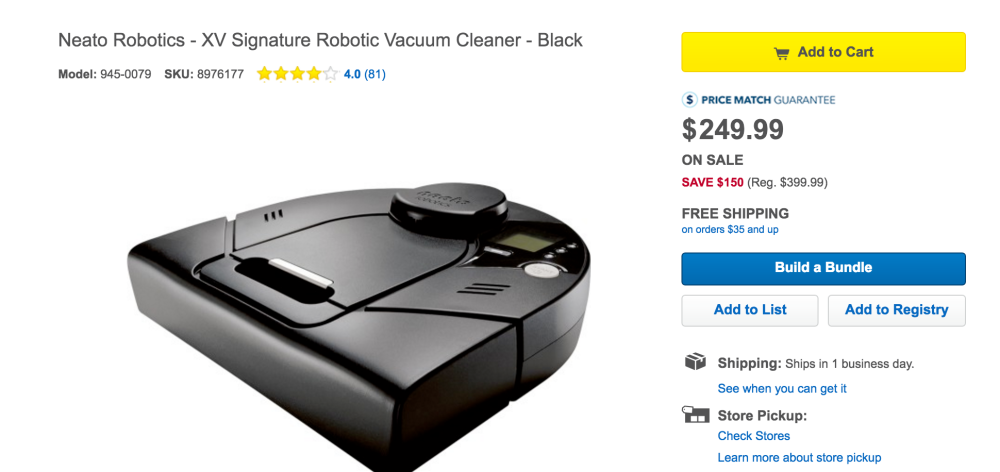 Neato Robotics XV Signature Robotic Vacuum Cleaner-3