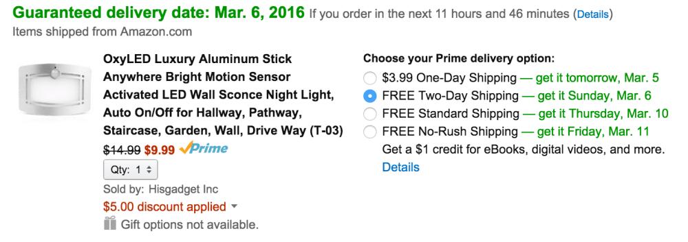 OxyLED Aluminum Stick Anywhere Motion Sensor LED Wall Sconce Light-3