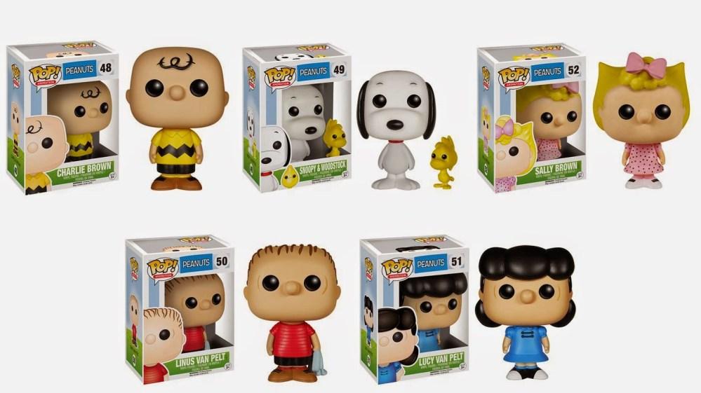 Peanuts Pop! Animation Series Vinyl Figures by Funko - Charlie Brown, Lucy Van Pelt, Linus Van Pelt & Sally Brown