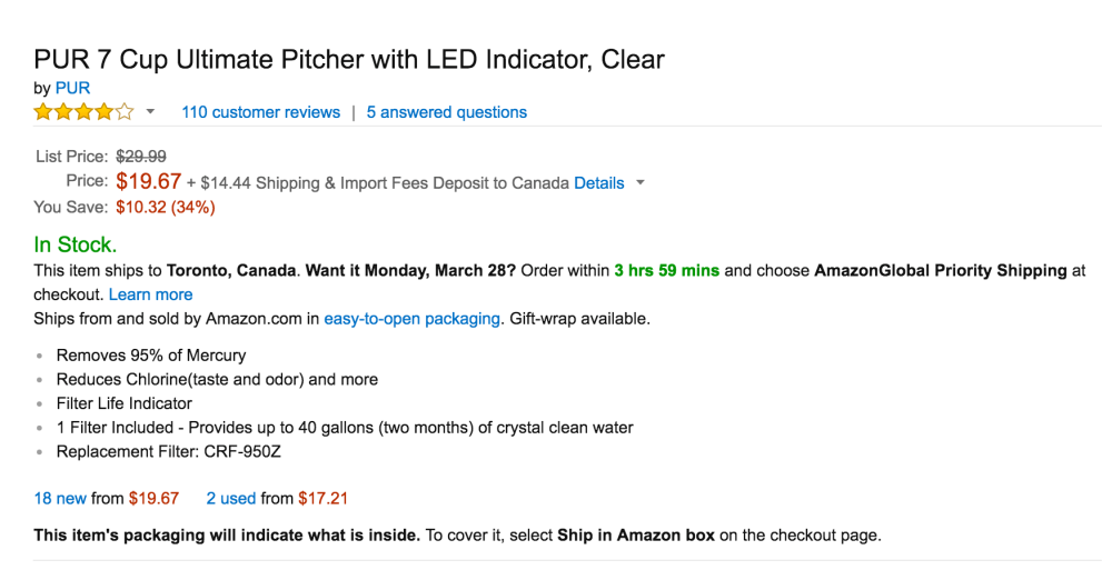 PUR 7 Cup Ultimate Pitcher with LED Indicator-2