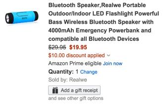 Realwe bt speaker