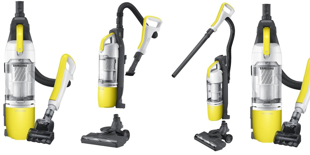 Samsung - Lift&Clean VU3000 Bagless Upright Vacuum - Yellow-3