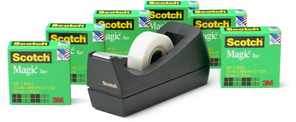 Scotch Magic Tape 6-Roll Value Pack with C38 Black Dispenser-sale-01