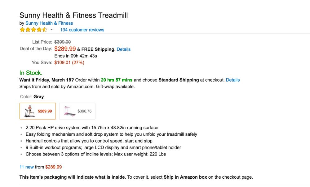 Sunny Health & Fitness Treadmill-4