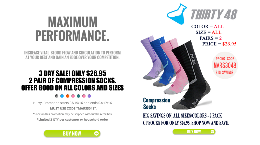 Thirty48 is offering 2 pairs of its Full Compression Socks-2