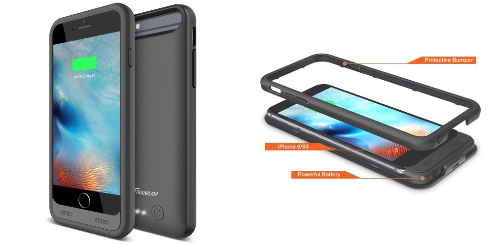 Trianium Atomic S iPhone Portable Charger iPhone 6 6S Charging Case