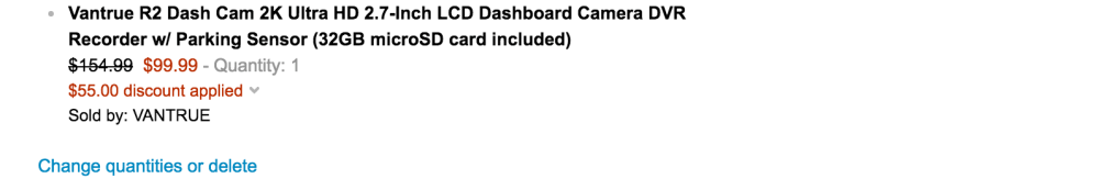 Vantrue R2 Dash Cam 2K Ultra HD 2.7-Inch LCD Dashboard Camera DVR Recorder w: Parking Sensor (32GB microSD card included)-sale-02