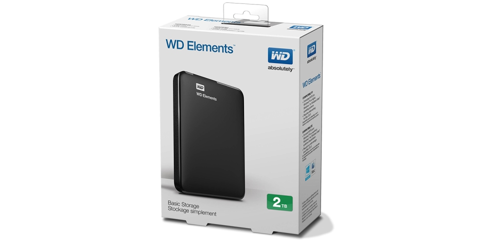 WD Elements 2TB Portable Hard Drive