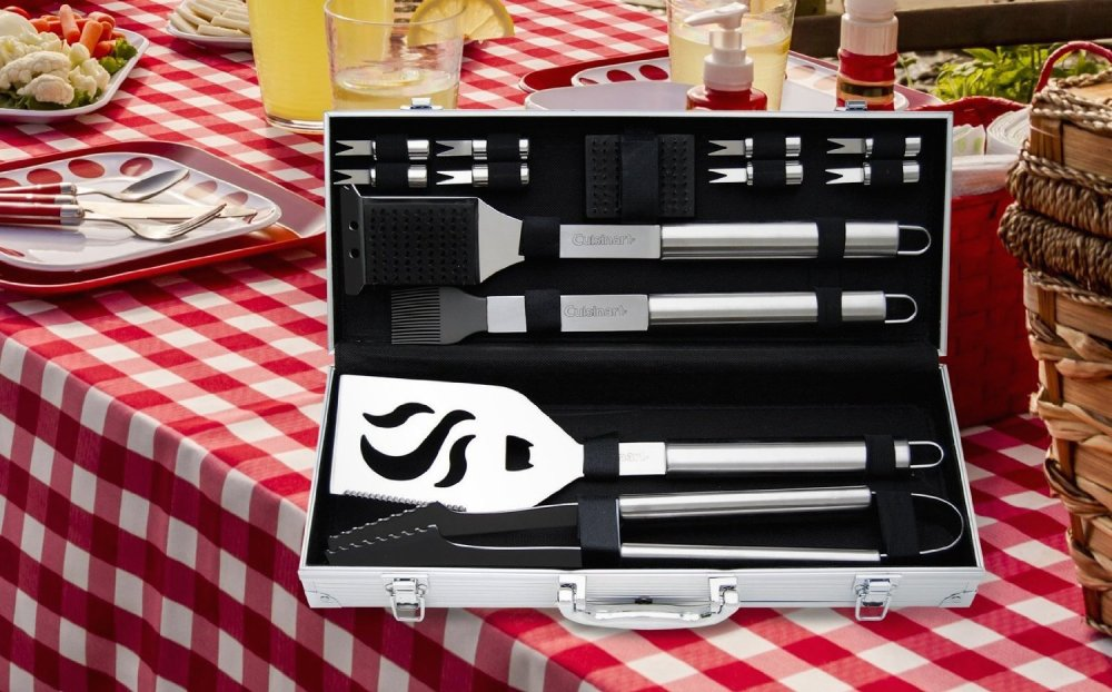 14-Piece Deluxe Stainless-Steel Grill Accessory Set (CGS-5014)