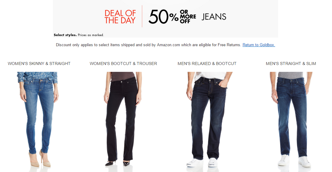 Amazon Gold Box Premium Jeans Sale