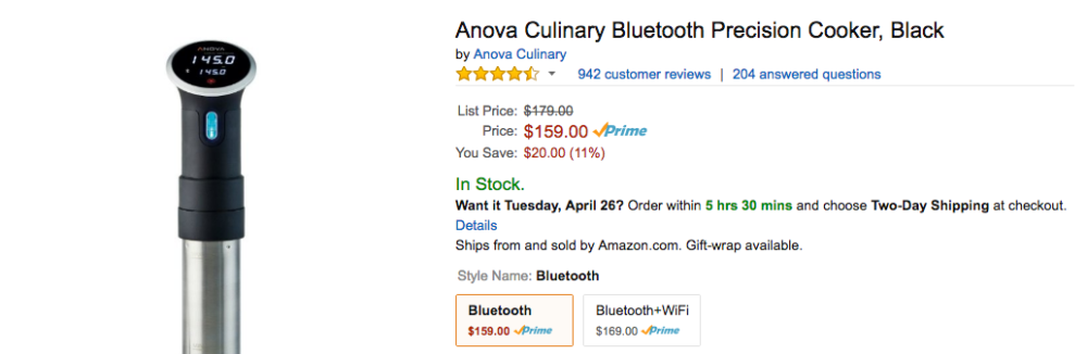 anova cooker amazon