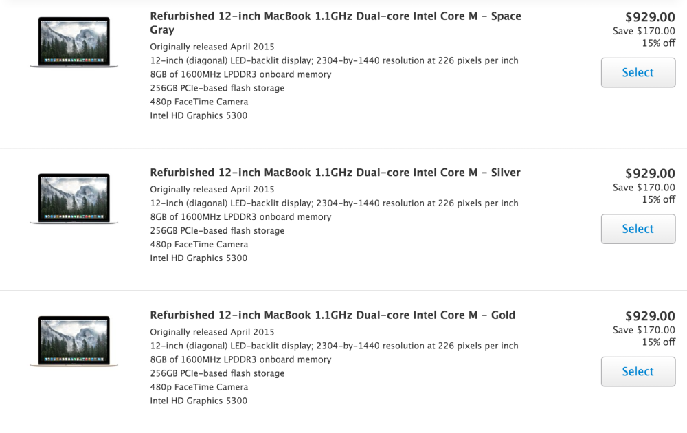 Apple drops the price on refurbished 12-inch MacBooks, now ...