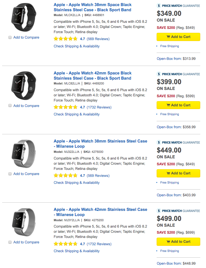 apple watch sale best buy