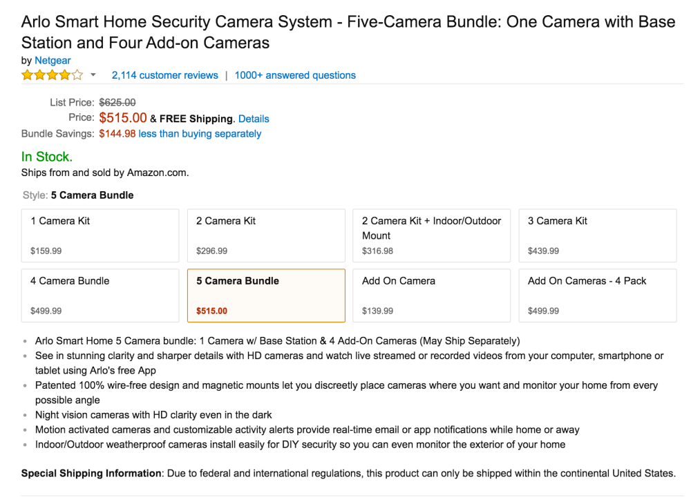 Arlo Smart Home Security Camera System-2