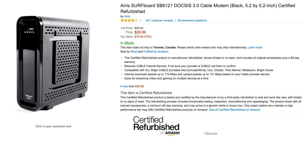 Arris SURFboard SB6121 DOCSIS 3.0 Cable Modem-5