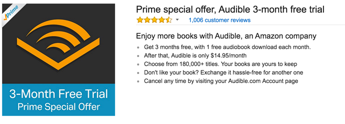 audible prime