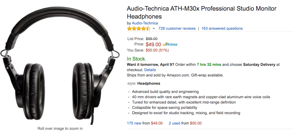 audio technica amazon deal