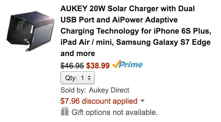 aukey-20w-solar-deal
