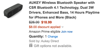 Aukey BT speaker