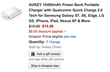 Aukey power bank