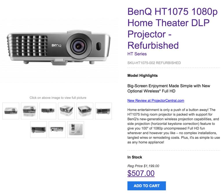 BenQ refurb projector