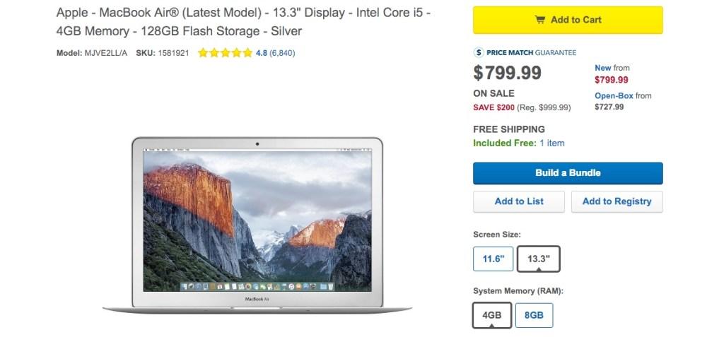 Best Buy Macbook air