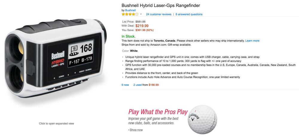 Bushnell Hybrid Laser-GPS Rangefinder-4