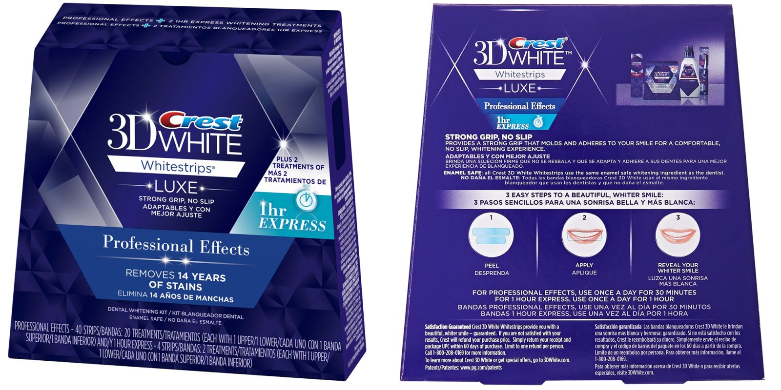 Amazon Gold Box Crest 3d Professional White Strips Extra 1 Hr