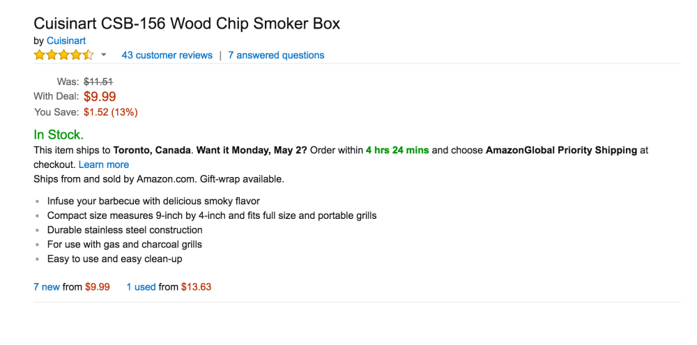 Cuisinart Wood Chip Smoker Box (CSB-156)-2