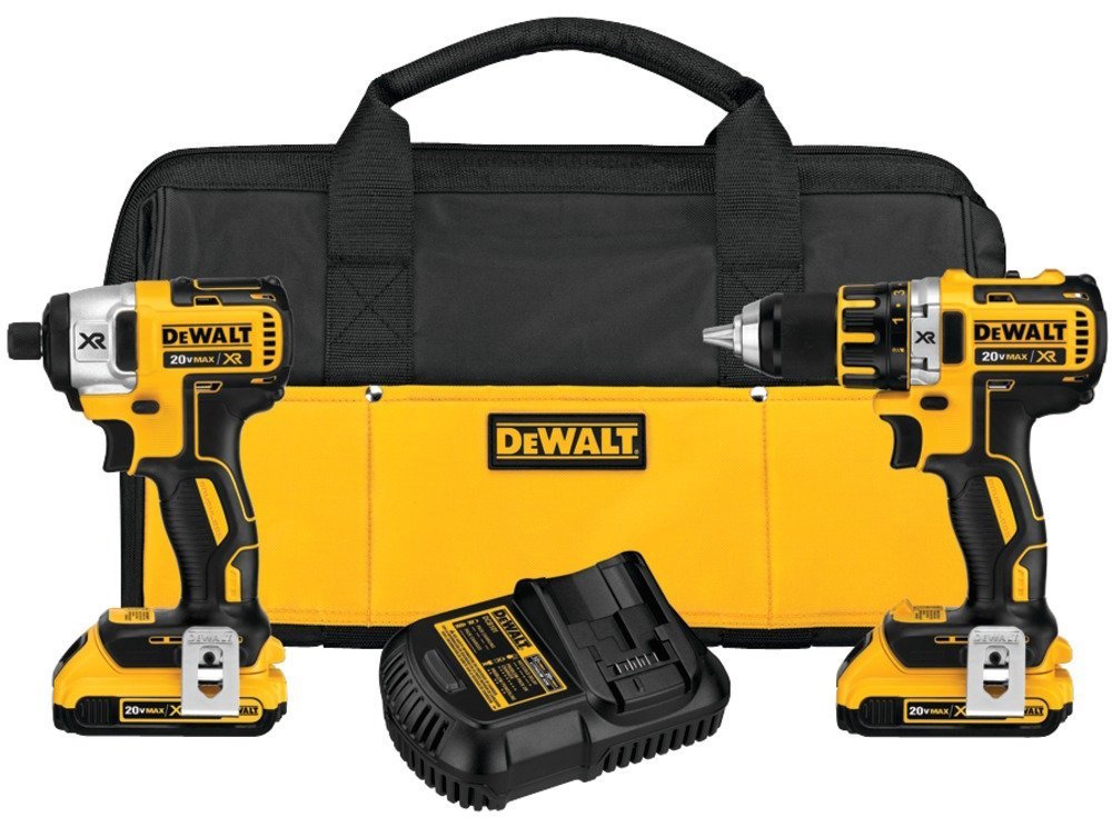 DEWALT 20V Max XR Lithium-Ion Brushless Compact Drill:Driver & Impact Driver Combo Kit (DCK281D2)