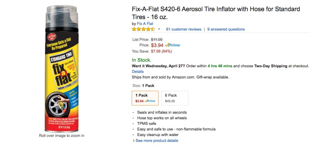 fix a flat amazon