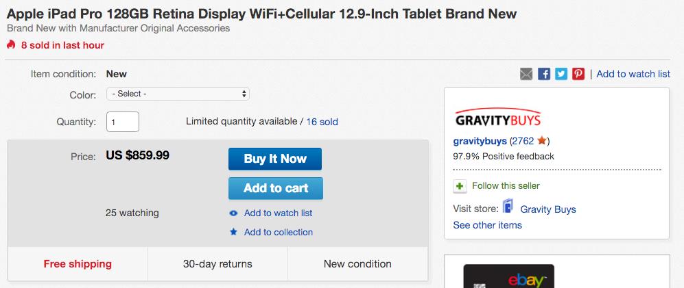 ipad pro ebay