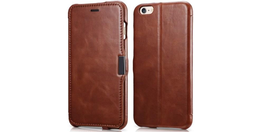 iPhone 6s Plus : 6 Plus Case, Benuo [Vintage Classic Series] Genuine Leather Folio Flip Corrected Grain Leather Case