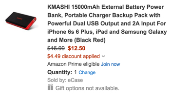 KMASHI 15,000mAh Power Bank