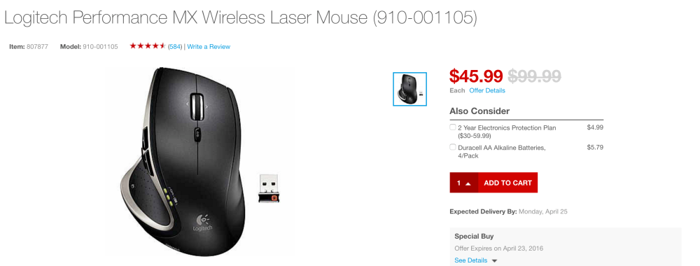 Logitech MX Wireless Performance Laser Mouse (Mac & PC)-2
