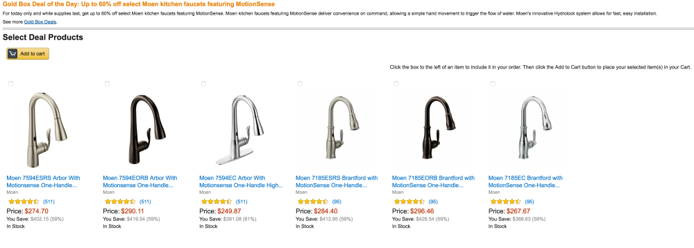 Moen kitchen faucets with MotionSense-sale-02