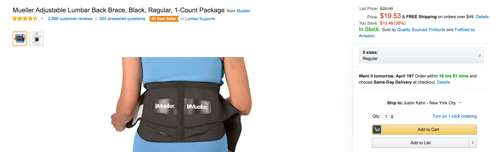 Mueller Adjustable Lumbar Back Brace-sale-01-2