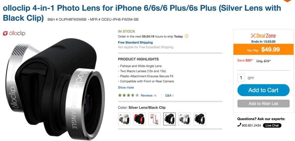 olloclip 4-in-1 Photo Lens for iPhone 6:6s:6 Plus:6s