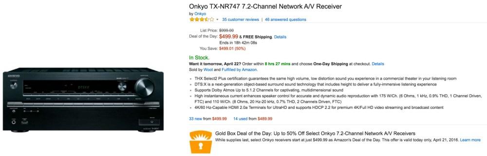 Onkyo TX-NR747 7.2-Channel Network Receiver
