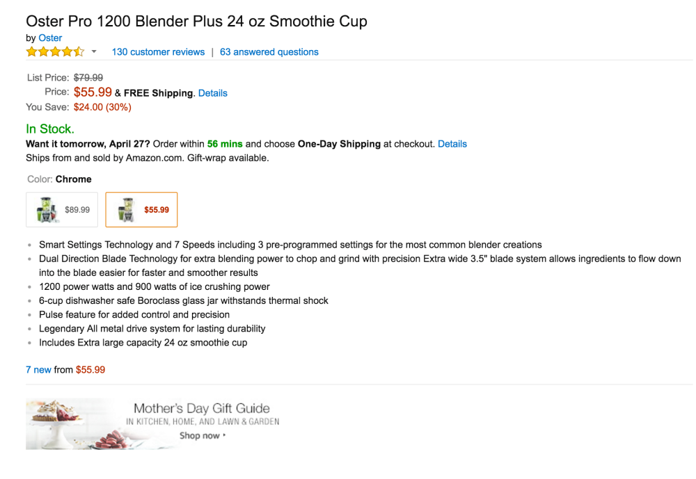 Oster Pro 1200 Blender Plus 24oz Smoothie Cup-2