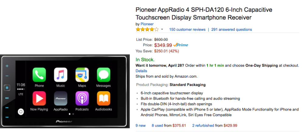 pioneer carplay amazon