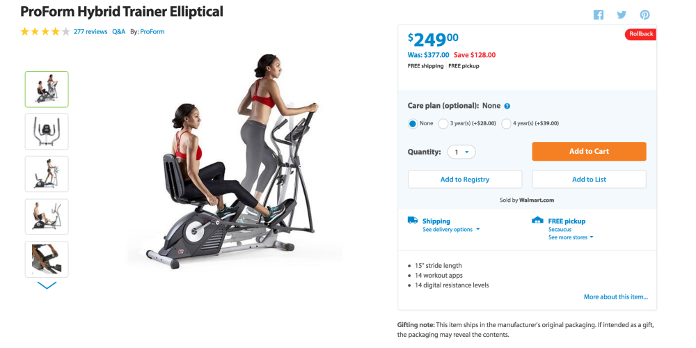 ProForm Hybrid Elliptical Trainer-4