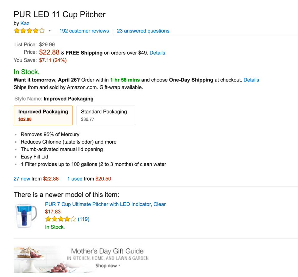 PUR 11 Cup Filtered Water Pitcher-sale-02
