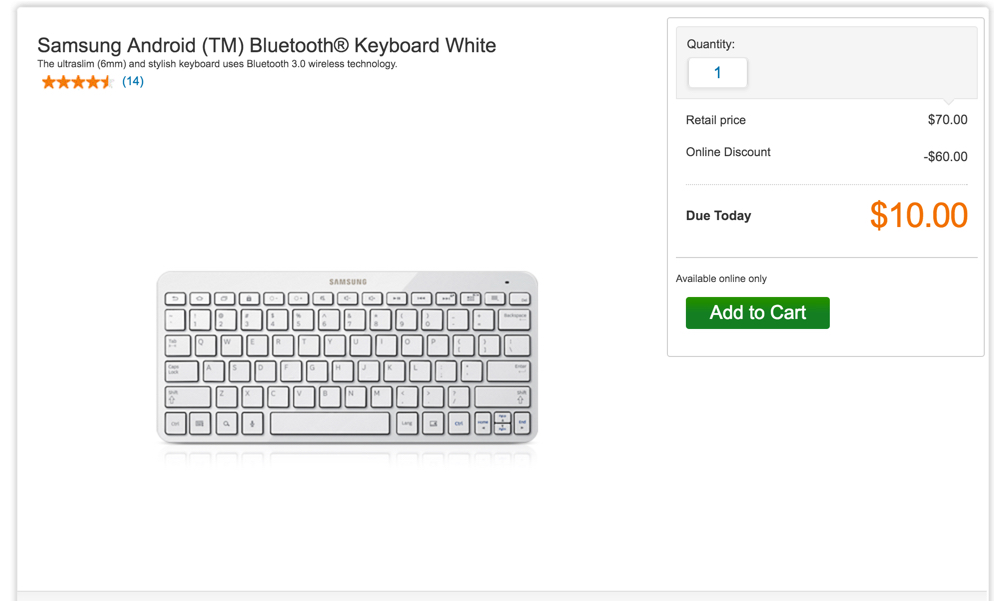 samsung bluetooth keyboard white