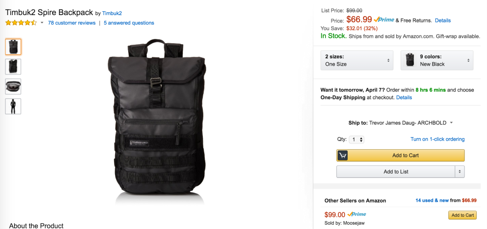timbuk2-spire-backpack-amazon-deal