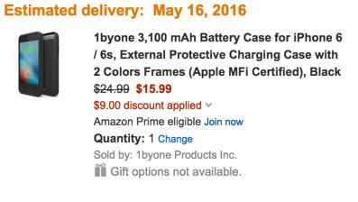 1byone battery case